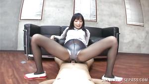 Delightful idol Tsumugi Serizawa loves to fuck her pal and suck penis