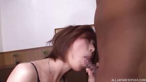Enchanting angel Akari Asahina loves to suck hard dangler and get fiercely plowed
